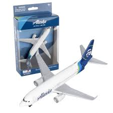 alaska airlines boeing 737 cast toy