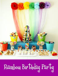 rainbow party and diy desserts table styling birdsparty com