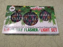 Christmas Tree Lights Flasher Unit Vintage Noel Liberty Bell Christmas Lights 100 5 Way Flasher Light Set