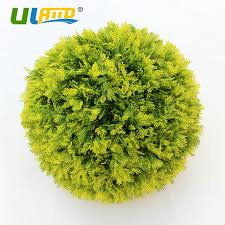 Decorative Boxwood Balls ULAND Artificial Boxwood Balls Faux Topiary Sphere Plastic Plants 60