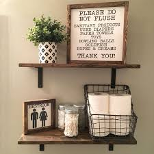 kids bathroom decor signs. Simple Decor Open Shelves  Farmhouse Decor Fixer Upper Style Wood Signs Bathroom  And Kids Signs