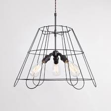 Lampshade Frame Pendant 3 Bulb Flea Market Rx