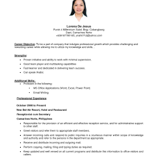 examples of a simple resume examples of resumes 9 example simple filipino resume expense in