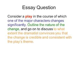 a view from the bridge timed essay choosing the right question  3 essay
