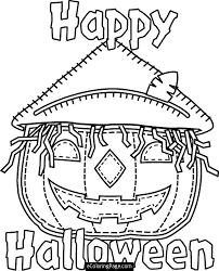 Small Picture Happy Halloween Pumpkin Coloring Pages Festival Collections