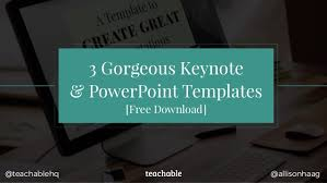 Powerpoint Themes Free Download 3 Gorgeous Keynote Powerpoint Templates Free Download Allisonhaag