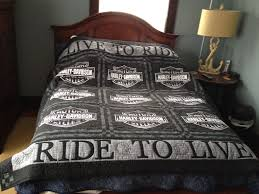 harley davidson quilt in blacks and grey tones intended for duvet set prepare 19