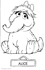 Sesame Street Coloring Pages Printable Coloring Page For Kids