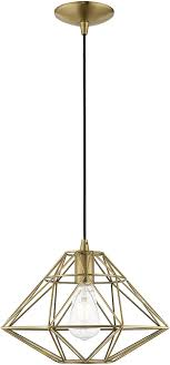 livex 41323 01 geometric shade modern antique brass hanging pendant light loading zoom
