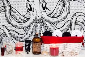 sourpuss octopus shower curtain