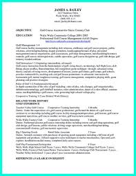 It Is Necessary To Makeell Organized College Golf Resume