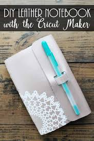 make a diy leather notebook with your cricut maker use the knife blade and scoring