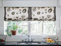 black and white kitchen curtains red