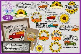 The <line> element is used to create a line: Fall Svg Bundle Pumpkin Sunflower Svg Designs Autumn