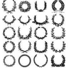 月桂冠リースのイラストaieps ベクタークラブイラストレーター素材