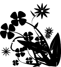 Silhouette Art Designs Clip Art Flower Pattern Silhouette Leaf Png Download