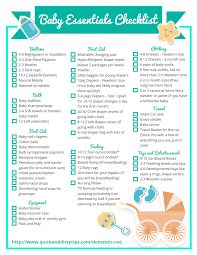 Baby Check List Essential Baby Items Checklist
