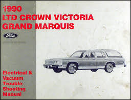 1990 ford crown victoria mercury grand marquis wiring diagram 1990 ford crown victoria grand marquis electrical troubleshooting manual