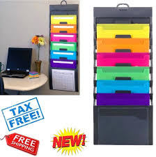 wall mounted file folder organizer wall file organizer doent holder pocket letter hanging office throughout wall