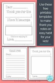 Free Printable Thank You Postcards Printable Thank You Cards For Kids The Kitchen Table Classroom