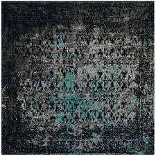 classic vintage navy teal 6 ft x 6 ft square area rug safavieh vintage turquoise viscose