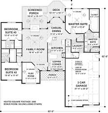 2000 sq ft house plans. Superior 2000 Sq Ft House Plans Ranch #1: Craftsman European Plan 74812