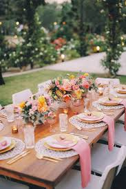 A beautiful summer party dinner setting