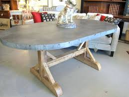 metal top table dining tables zinc top round dining table metal top round dining table oval