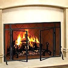 outdoor fireplace accessories home indoor single panel screen with doors