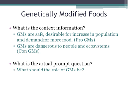writing the synthesis essay ap english language composition  3 genetically modified foods