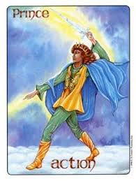 Image result for prince of swords of pentacles gill tarot