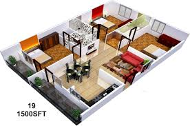 1500 sq ft house plans 2 story indian style