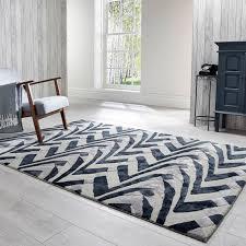 v a jazz black grey wool rug by flair rugs