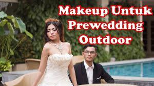 makeup untuk prewedding outdoor dengan menggunakan krayolan supracolor foundation beauty