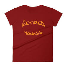 Obscene Womens Short Sleeved Tees Retired Young