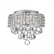 matrix 3lt flush chrome crystal glass ceiling light