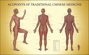 Acupuncture Chart Poster Acupoints Of Tcm Female Acupuncture Chart