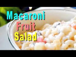 how to make macaroni fruit salad