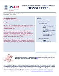 Newsletter Cover Letter The Cfbci Newsletter U S Agency For International Development