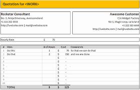 Quatation Formats 7 Quotation Templates Excel Pdf Formats