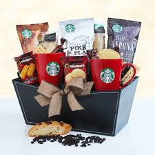 perfect pair starbucks gourmet coffee gift basket
