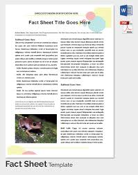 program sheet template fact sheet template 32 free word pdf documents download