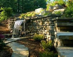 retaining wall design ideas how to build a retaining wall water feature structures decorative stone wall