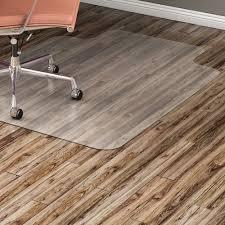 lorell hard floor wide lip vinyl chairmat llr69168 right original