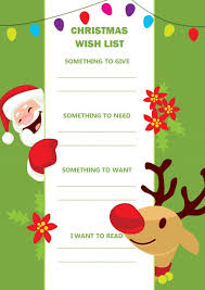 Colorful Christmas Wish List Templates For Students Teachers