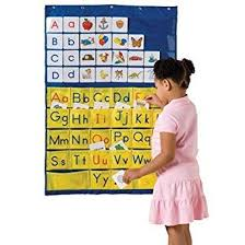 Amazon Com Constructive Playthings Alphabet Pocket Chart