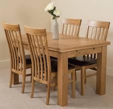 Richmond Oak Small Dining Set 4 Harvard Chairs