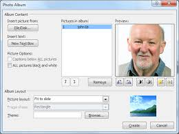 powerpoint photo albums slide size in powerpoint photo albums