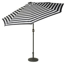black and white striped umbrella. Plain Black 9u0027 Deluxe Solar Powered LED Lighted Patio Umbrella By Trademark Innovations  Blue Striped To Black And White Striped K