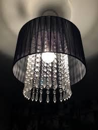 black beaded chandelier style lamp shade